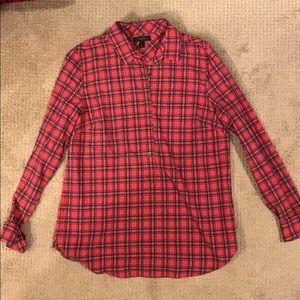 J Crew Plaid Popover Shirt